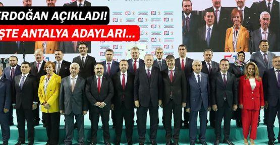 Cumhur İttifakı'nın Antalya adayları