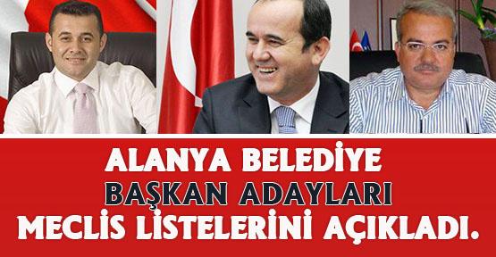 31 mart 2019 Alanya belediye meclis üyesi listeleri belli oldu..