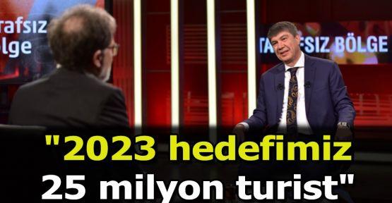 """2023 hedefimiz 25 milyon turist"""