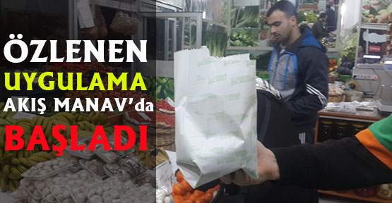Alanya Akış Manav'dan Poşete çare