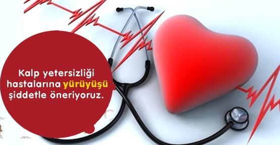 """""""Kalp Yetersizliği"""" tedavisinde yürümek önemli"""