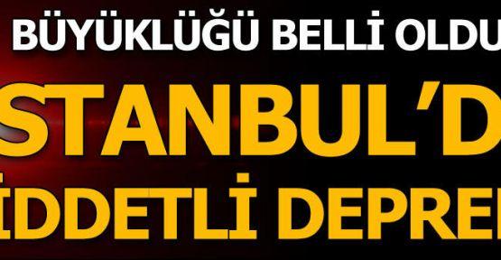 İstanbul'da deprem