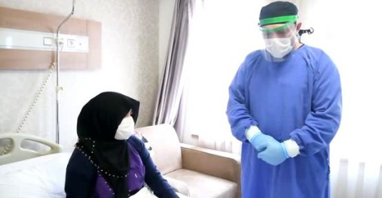 Alanya'da 37 Yaşındaki Kadın Koronw Virüsü Yendi...
