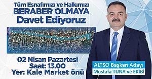 ALTSO Adayı Mustafa Tuna Üyelere seslendi.