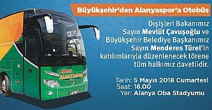 Büyükşehir den Alanya Spora Otobüs Hediye