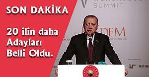 Akparti grup toplantısında Erdoğan 20 ilin daha başkan adaylarını açıkladı.