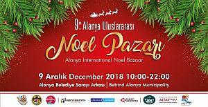 9. Alanya Uluslararası Noel Pazarı 9 Aralık'ta
