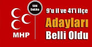 MHP (Milliyetçi Hareket Partisi) de 50 belediye başkan adayını açıkladı.
