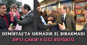 Alanya belediye başkan adayı Çakır çalışmalarına Demirtaş bölgesinde devam etti.