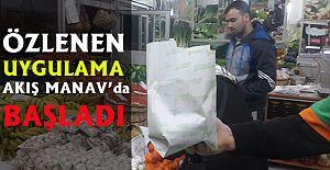 Alanya Akış Manav#039;dan Poşete...