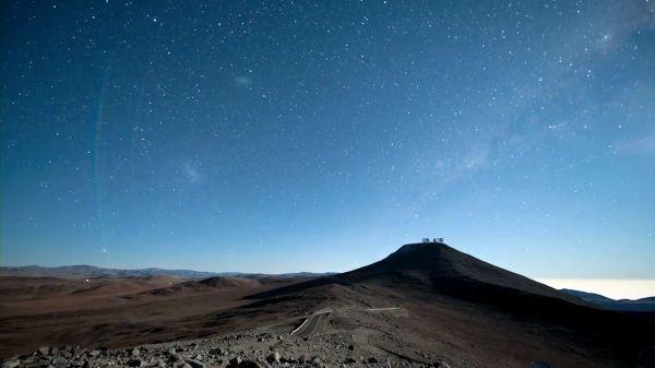 Time lapse' tekniği ile gökyüzünün eşsiz görüntüle