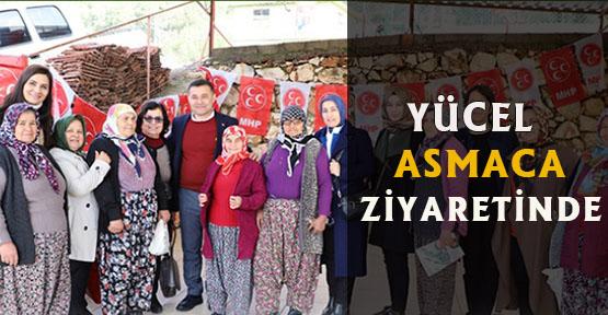 Yücel ve ekibi Asmaca Ziyaretinde