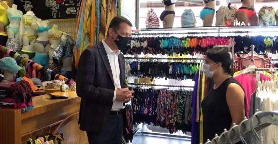 Alanya'da maske, sosyal mesafe ve hijyen denetimi