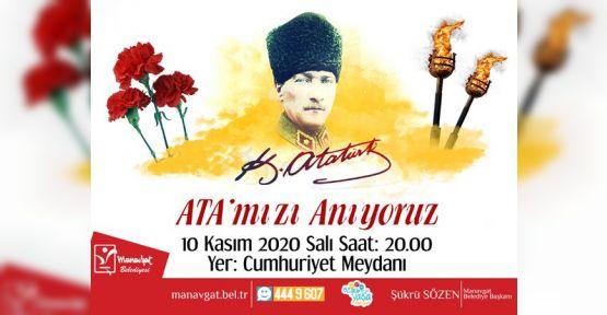 Manavgat Belediyesi, Antıkabir'deki gibi saygı duruşlu anma töreni düzenleyecek.