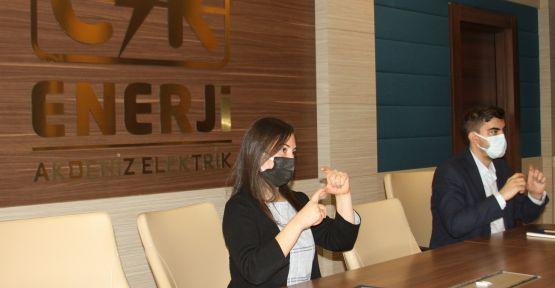 CK Enerji Akdeniz Elektrik'ten MÜHİM'lerde 'işaret dili' ile hizmet