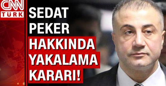 Sedat Peker hakkında yakalama kararı