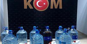 Alanya'da 189 litre sahte içki ele geçirildi