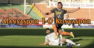 Alanya liderliği bırakmıyor, Alanyaspor 1-0 Konyaspor