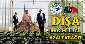 Gazipaşa Belediyesi bitki üretim merkezi tamamlandı.